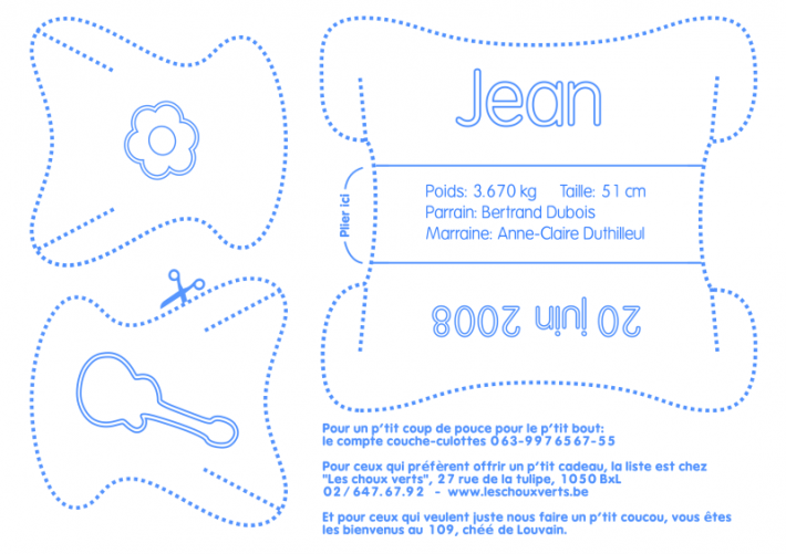 Jean - Layout carte